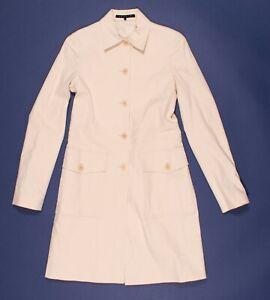 Theory Elegant Button Front Cotton Rain Coat Size S Small