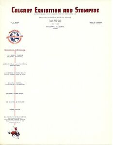 Calgary Stampede 1966 - 67 Official Stampede letterhead unfolded and unused