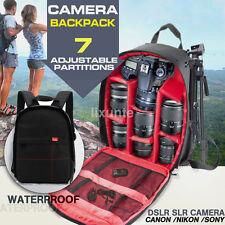 Waterproof DSLR Camera Backpack Shoulder Bag Case For Canon Nikon Sony US