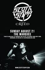 "Scott Stapp ""Voice Of Creed"" 2016 Phoenix Concert Tour Poster- Post-grunge Music"