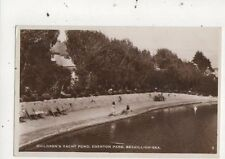 Childrens Yacht Pond Egerton Park Bexhill On Sea 1935 RP Postcard 870a