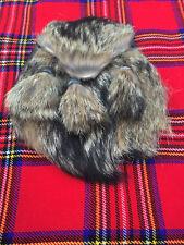 Mens Scottish Kilt Sporran fox fur/Kilt Sporran fox fur Mouth/kilt Sporrans