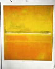 Mark Rothko Poster after 1953 Painting No 10/No 14 (Yellows Greens) 14x11