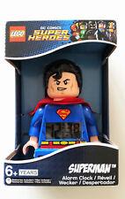 Licensed LEGO DC Comics Super Heroes SUPERMAN Light-Up Alarm Clock Action Figure