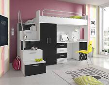 Doppelstockbett Etagenbett Doppelbett Jugend Bett Betten mit Schrank Tisch Neu!