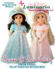"PDF 2 Versions of Regency Dress Pattern For 16"" A Girl For All Time AGAT Dolls"