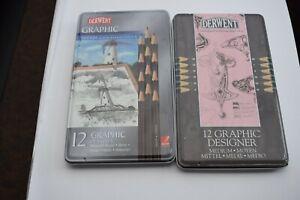 two tins of Derwent art pencils