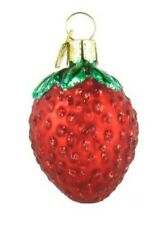 Old World Christmas 28053 Glass Blown Sweet Strawberry Ornament