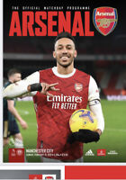 Arsenal v Manchester City Premiership 21-2-21 - Electronic Programme RARE
