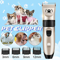 Pet Grooming Clippers Kits Low Noise Dog Cat Rechargeable Cordless Hair