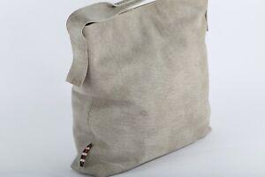 MANILA GRACE Light Gray Leather Shoulder Bag Handbag