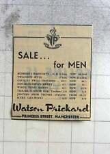 1960 Watson Prickard Princess Street Manchester Sale For Men