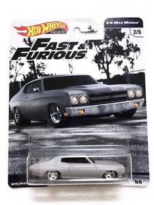 NEW Hot Wheels Fast & Furious 1970 Chevrolet Chevelle 55 - 1/4 Mile Muscle 2/5