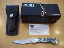 CUSTOM BUCK KNIFE 532 PAUA SHELL / ABALONE ~  NOS 2004