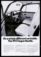 1973 VW Super Beetle classic car photo vintage Volkswagen print ad