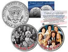 THE BRADY BUNCH *TV SHOW* Colorized JFK Half Dollar 2-Coin Set Peter Cindy Bobby