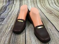 Etienne Aigner Governor Burgundy Moc Toe Leather Loafers Women's Size 8M