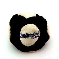 World Footbag Sandmaster 14 Panel Dirtbag New Footbag Kick Ball Black White