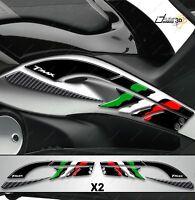 ADESIVO 3D BOOMERANG CARENE TUNNEL SPORT 500 TMAX T MAX 08-11 TRICOLORE NERO