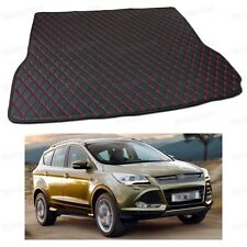 PU Leather Car Trunk Mat Cargo Pad Carpet Fit for Ford Kuga Escape 2013-2017