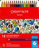 Caran d'Ache SCHOOL LINE 18 Matite Colorate Acquerellabili Soft Scatola Metallo