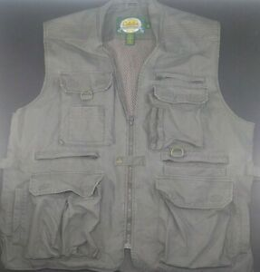 Cabela's Safari Men's Size XL Vented Safari Photo Fishing Hunting Vest