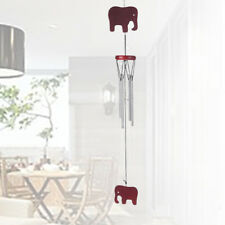 EG_ WOODEN WIND CHIMES ELEPHANT COPPER PIPE HOME GARDEN HANGING DECORATION ALLUR