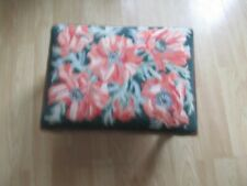 BEAUTIFUL  Small Foot Stool Light Weight PATERNED /tapestry