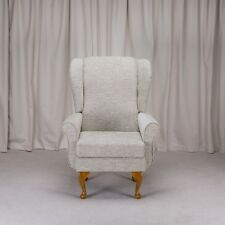 Balmoral Chair in a Boucle Celedon Green 15741 Fabric
