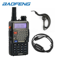 Baofeng *UV-5R+ PLUS* 2m/70cm Band VUHF Ham Two-way Radio Walkie Talkie + Cable