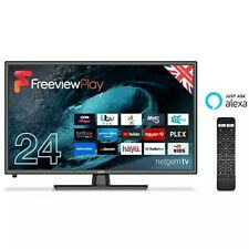 """Cello C24FVP 24"""" Freeview Play Smart HD Ready LED TV Netgem with Alexa"""