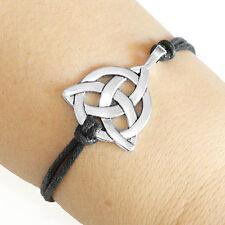 Celtic Knot Charm Bracelet Lucky Friendship Silver Plated Charm Bracelet