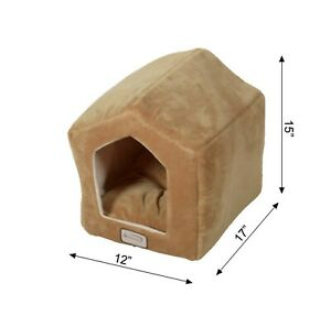 Armarkat Cat Bed Model C27CZS/MH Earth Brown & Beige