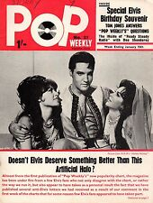 Pop Weekly Magazine 15 January 1966  Elvis Presley  Tom Jones Twinkle Billy Fury
