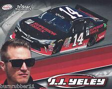 "2017 JJ YELEY ""SUPERIOR ESSEX"" #14 NASCAR XFINITY SERIES POSTCARD"