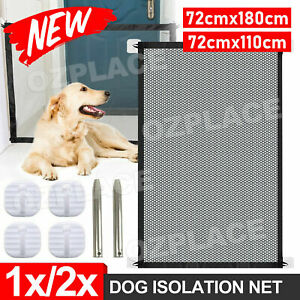 Dog Pet Mesh Magic Gate Pets Barrier Baby Kid Safety Fence Portable Indoor Guard