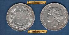 Suisse - 5 Francs 1908 Argent TTB + Extremly Fine - Swiss Helvetia 200 000 Exemp