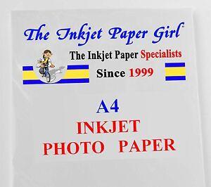A4 108g High Grade Matte Photo Inkjet Paper 100 Sheets