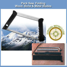 Pack Saw - Take Down - 3 Blade - Survival, Hunting, & Emergency - Folding