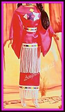 Pink Navajo dress fits silkstone model muse Barbie royalty and more.