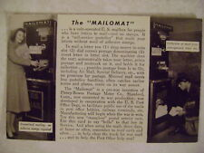 "Vintage Postcard The ""Mailomat"" Automated No Adhisive S"