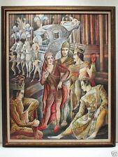 "Ramon Lopez Morello (1903-1975) Watercolor ""La Gran Rua de Carnaval"" C.1930's"