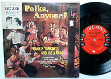 "FRANKIE YANKOVIC and his Yanks POLKA, ANYONE? Columbia 10"" CL 2524 lp SIX-EYE"