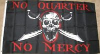 3X5 NO QUARTER MERCY FLAG PIRATE SKULL SWORD 3'X5' F992
