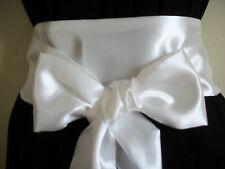 3.5x60» tissu SATIN blanc SASH ceinture auto BOW TIE parti de demoiselle d'honneur robe de bal