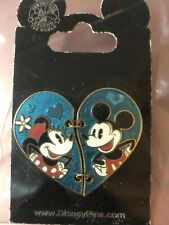 Disney Mickey and Minnie Mouse Heart Pin