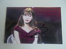 IU Lee Ji Eun KPOP Korean Actress 4x6 Photo Autograph hand signed USA Seller C