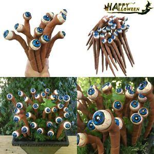 Halloween Alien Eyeball Plant Markers Spooky Humor Bloodshot Eyeball Orb Decor