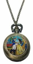 """Disney's BEAUTY And The BEAST Pendant Watch on 30"""" Chain"""
