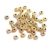 100Pcs Tibetan Silver/Gold/Bronze Roundelle Spacer Beads Jewelry Findings CA3023